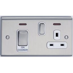 45A Cooker Control Unit & Neon- Stainless St/White