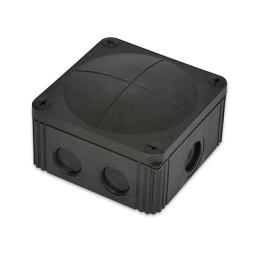 Wiska Black Plastic Junction Box - IP66 (85x85x51 mm)