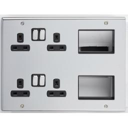 Media Plate with Co-Axial Male, BT Secondary & 4 Blank Modul