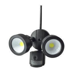 Wifi Outdoor Floodlight with PIR & Security Camera - Black