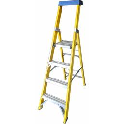 4 Tread Fibreglass Platform Ladder