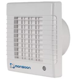 "National Vent. Monsoon 6""/150mm Extractor Fan - AutoShut"