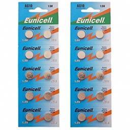 Eunicell AG10 1.5V Alkaline Batteries (Pack of 2)