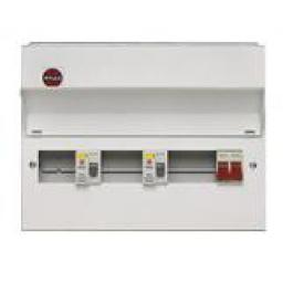 Wylex NMRS10SSLMHI 10way Split Load Metal Consumer Unit