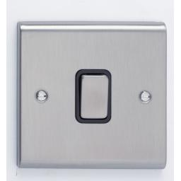 20A DP Switch- Stainless Steel/Black