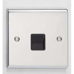 Secondary Telephone Outlet- Chrome/Black
