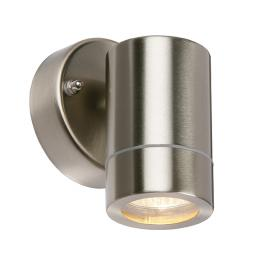 Palin 1lt Wall IP44 35W - Brushed Stainless Steel