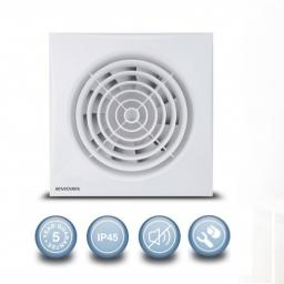 """Envirovent Silent 6""""/150mm Extractor Fan - Humidistat & Time"""