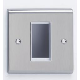 1 Module Data Plate Stainless Steel/White