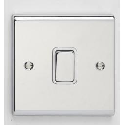 20A DP Switch- Chrome/White