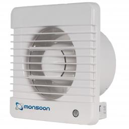 """NatVent Monsoon 4""""/100mm Extractor Fan - Pull Cord"""