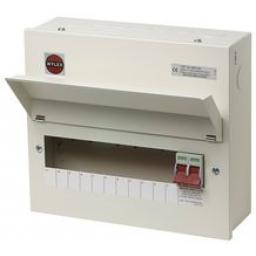 Wylex 11-Way Metal Consumer Unit, 100A Main Switch
