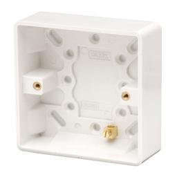 1 Gang 25mm Deep Pattress Box