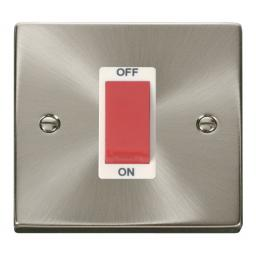 1 Gang 45a Dp Switch - White