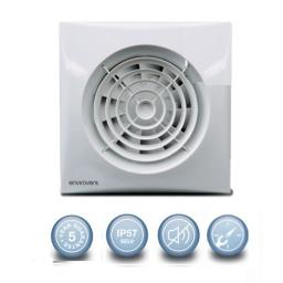 "Envirovent Silent 4""/100mm Extractor Fan - SELV & Timer"
