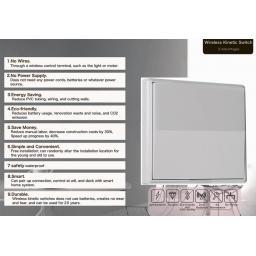 1gang Wireless Switch - Self Powered Kinetic Energy