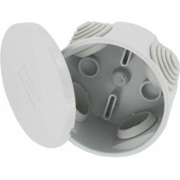Plastic Round Junction Box w/ Grommets - IP44 (65x35 mm)