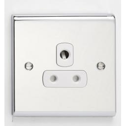 5A 1G Unswitched Socket Chr/Wht