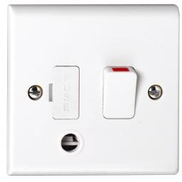 13A DP Switched with Front Flex Outlet