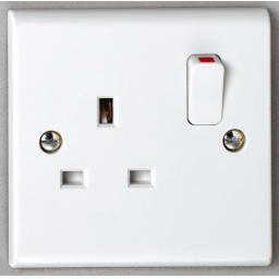 13A 1G DP Switched Socket