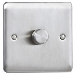 1G 2W 60-400W Dimmer Stainless Steel