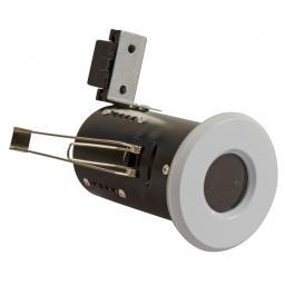 Fire Rated Diecast Showerlight GU10 - White