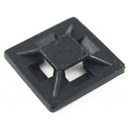 Adhesive 19mm x 19mm Cable Tie Base - Black (Each)