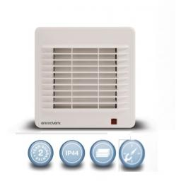 """Envirovent Classic 4""""/100mm Extractor Fan - Thermo-Electric Shutter & Timer"""