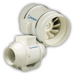 """National Vent Monsoon 4""""/100mm In-Line Extractor Fan - Timer"""