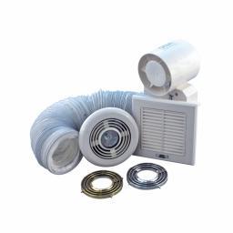 "4""/100mm Shower Light & Extractor Fan Kit"