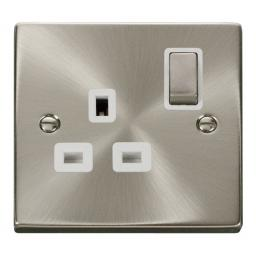 1 Gang 13a Dp 'Ingot' Switched Socket Outlet - White