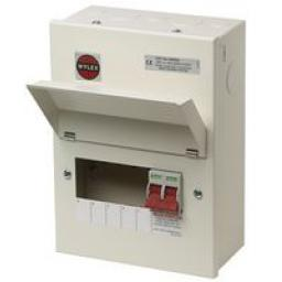 Wylex 5-Way Metal Consumer Unit, 100A Main Switch