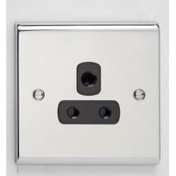 5A 1G Unswitched Socket Chr/Blk
