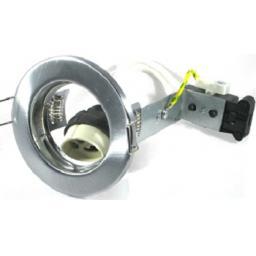 Pressed Steel Downlight GU10 - Satin Chrome