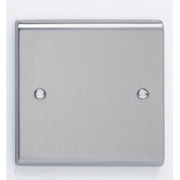 1G Blank Plate - Stainless Steel
