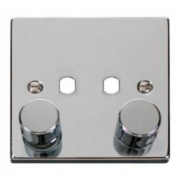 Vpch 2 Gang Single Dimmer Plate & Knobs