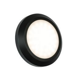 Severus Round Direct IP65 2W Warm White - Black ABS