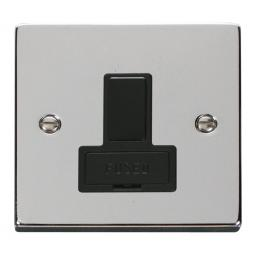 13a Fused Switched Connection Unit - Black