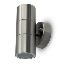 Brushed Stainless Steel Up/Down Light - IP44