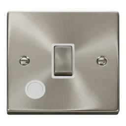 20a 1 Gang Dp 'Ingot' Switch With Flex Outlet - White