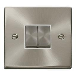 2 Gang 2 Way 'Ingot' 10ax Switch - White