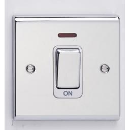 45A DP Switch Chr/Wht