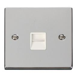 Single Telephone Socket Outlet Secondary - White