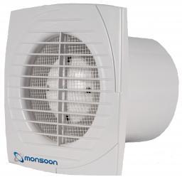 "NatVent Monsoon 4""/100mm Extractor Fan - Humidistat/Timer"