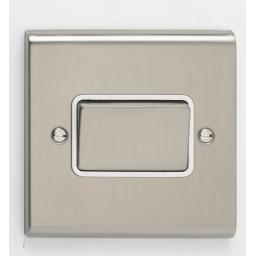 10A 3 Pole Fan Isolator Switch- Stainless Steel/White