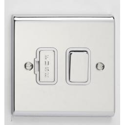 13A DP Switched- Chrome/White