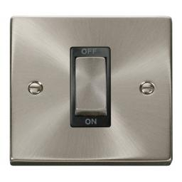 Ingot 1 Gang 45a Dp Switch - Black