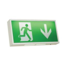 Watchman LED 3M/NM White Exit Box c/w Legend