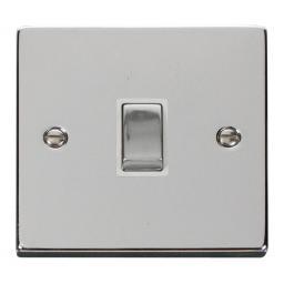 20a 1 Gang Dp 'Ingot' Switch - White