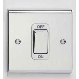 50A DP Switch - Chrome/White